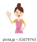 女性 主婦 若いのイラスト 31679743
