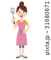女性 主婦 若いのイラスト 31680671