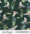 Watercolor vector pattern with ducks 31680904