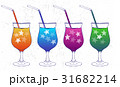 Ink hand drawn party drinks colorful collection 31682214