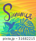 Summer tropical vector background  31682215