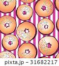 Ruddy donuts vector seamless pattern 31682217