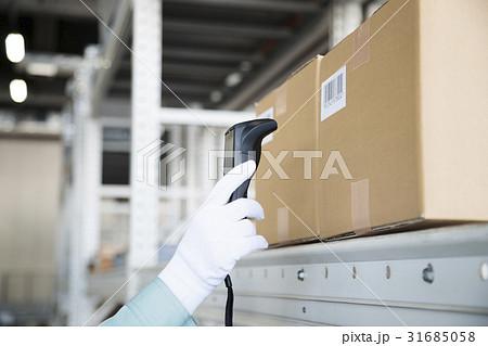 倉庫 バーコードリーダー ボディパーツ ビジネス 流通 ピッキング作業 31685058