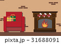 クリスマス 空間 部屋のイラスト 31688091