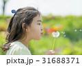 新緑の公園でタンポポを持つ女の子 31688371