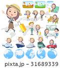 女性 旅行 海外旅行のイラスト 31689339
