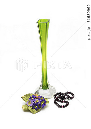 Vase beads and flowersの写真素材 [31689969] - PIXTA