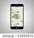 マップ スマホ スマートフォンのイラスト 31692634