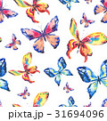 Watercolor colorful butterflies. Seamless pattern 31694096
