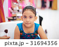 kid girl with princess make up 31694356