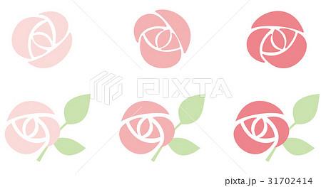 シンプルな薔薇のアイコン 31702414