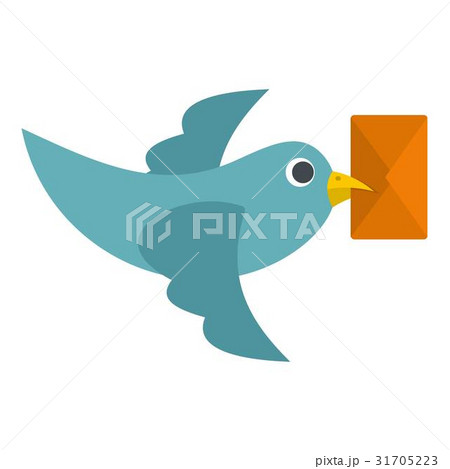 Dove carrying envelope icon isolated 31705223