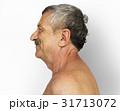 Senior Adult Man Bared Chest Studio Portrait 31713072