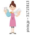 人物 女性 主婦のイラスト 31715813