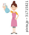 女性 主婦 若いのイラスト 31715821
