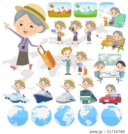 Purple clothes grandmother travel 31716786
