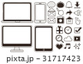 スマホ パソコン アイコンのイラスト 31717423