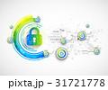 ネットワーク 通信 錠のイラスト 31721778
