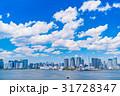 《東京都》白い雲と都市風景《初夏》 31728347