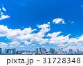 《東京都》白い雲と都市風景《初夏》 31728348