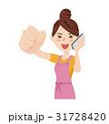 女性 主婦 若いのイラスト 31728420