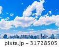 《東京都》白い雲と都市風景《初夏》 31728505