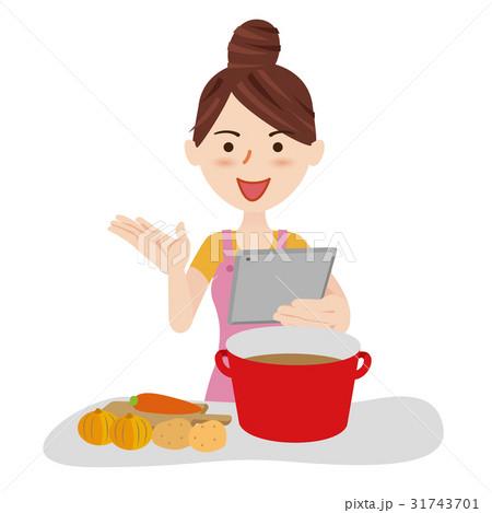 若い主婦 料理 31743701