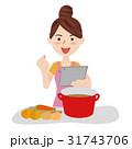 人物 女性 主婦のイラスト 31743706