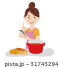 若い女性 キッチン 31745294