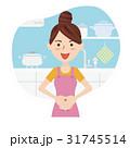 人物 女性 主婦のイラスト 31745514