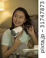 若い女性 ドライヤー 31747873