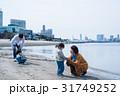 家族 海 砂浜の写真 31749252