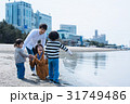 家族 海 砂浜の写真 31749486