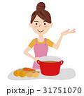 若い主婦 キッチン 31751070