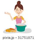 若い主婦 キッチン 31751071