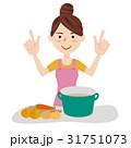 若い主婦 キッチン 31751073