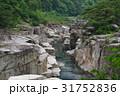 信州 木曽路の景勝 寝覚の床 木曽川に侵食された奇岩がならぶ 浦島太郎伝説も残る 31752836