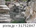信州 木曽路の景勝 寝覚の床 岩盤拡大 木曽川に侵食された奇岩がならぶ 浦島太郎伝説も残る 31752847