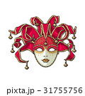 Decorated Venetian carnival, jester mask with 31755756