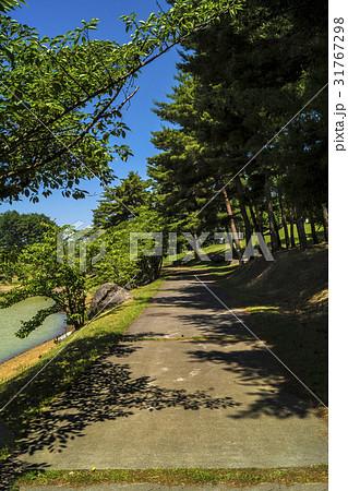 信州・長野県東御市八重原芸術むら公園の明神池沿いの散策路 31767298