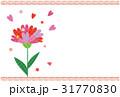 ポストカード ハート 花のイラスト 31770830