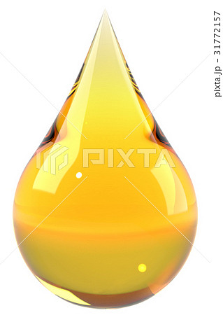 Oil drop isolated on white background 31772157