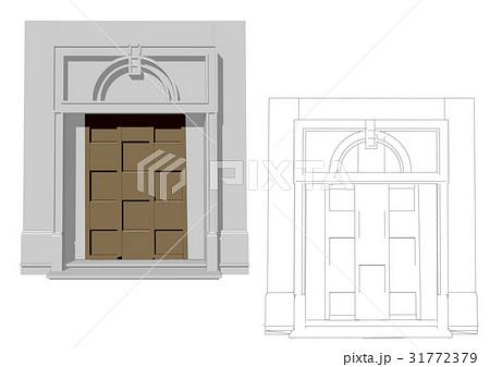 Entrance doorのイラスト素材 [31772379] - PIXTA