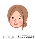 困っている女性の顔 斜め 31772884
