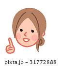 指差しをする女性の顔 斜め 31772888