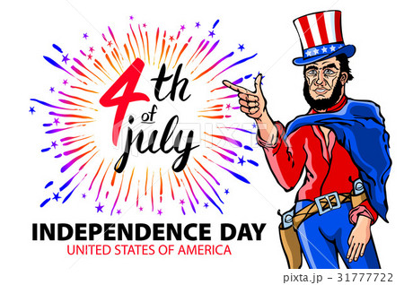USA pin men. 4th of July Independence Day Vector のイラスト素材 [31777722] - PIXTA