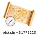 地図 コンパス ベクターのイラスト 31779225