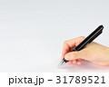 ボールペン 握る 手の写真 31789521