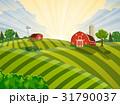 農場 草 自然のイラスト 31790037