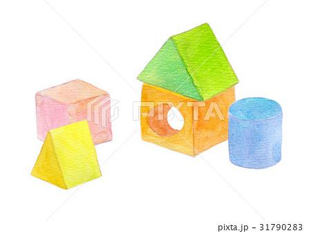 積み木 イラスト